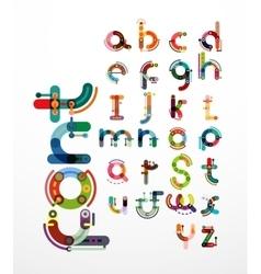 Linear design font alphabet vector