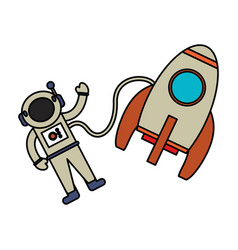 Astronaut rocket exploration image vector