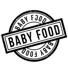 Baby food rubber stamp vector