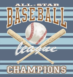 Baseball league vector