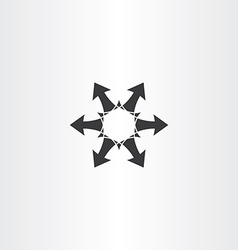 black arrow circle icon element vector image