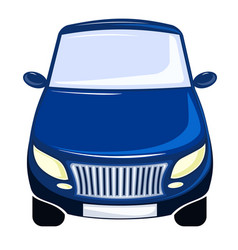 blue car front view bumper vector image vector image