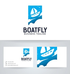 Boat Fly vector image vector image
