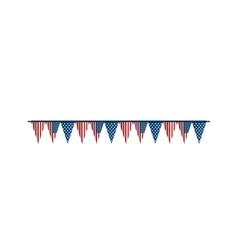 bunting flag america usa vector image