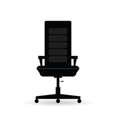 chair black vector image vector image