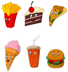 Collection food and drink vector