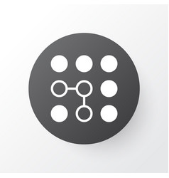 Computational complexity icon symbol premium vector