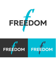 freedom logo letter f logo logo template vector image vector image