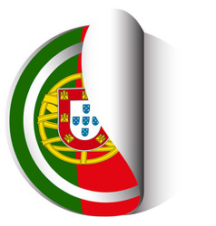 Icon design for flag of portugal vector