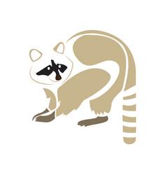 Isolated abstract raccoon vector