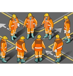 Isometric foreman in eight positions vector
