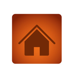 Orange square frame with silhouette house icon vector