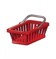 shopping basket vector image