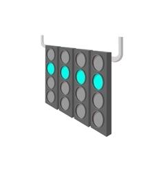 Sport traffic light cartoon icon vector image vector image