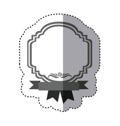 Sticker monochrome silhouette border heraldic vector