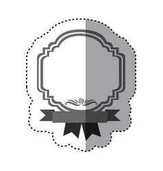 sticker monochrome silhouette border heraldic vector image vector image
