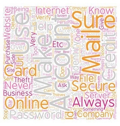 Stop identity theft text background wordcloud vector