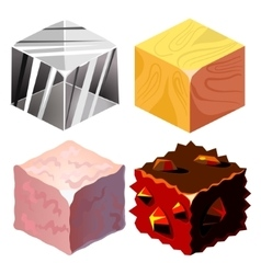 Textures for platformers icons set vector