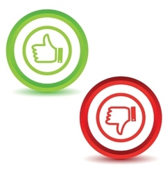 Two like dislike icons vector