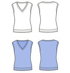 Vest vector image vector image
