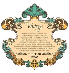 vintage border frame isolated on white background vector image vector image