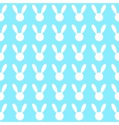 White rabbit blue background vector