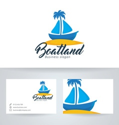Boat land vector