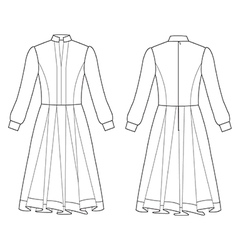 Long sleeve dress vector