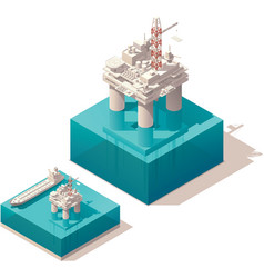 Isometric oil platform vector