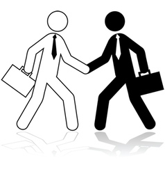 Business deal vector image