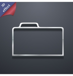 Document folder icon symbol 3d style trendy modern vector