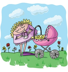 Picture of a baby carriage vector