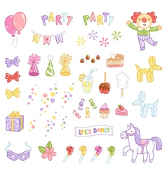 Party accessories vector