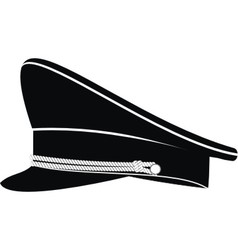 Military officer cap vector