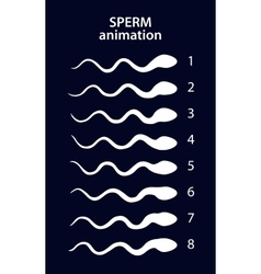 Sperm activity sprites for animation vector