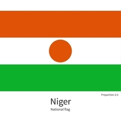 National flag of niger with correct proportions vector