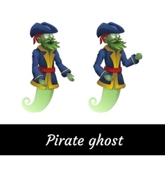 Two classic green pirate ghosts in a suit vector