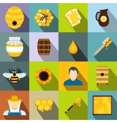 Apiary flat icon vector