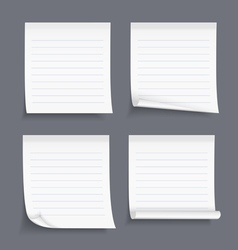Lined Sticky Notes vector image