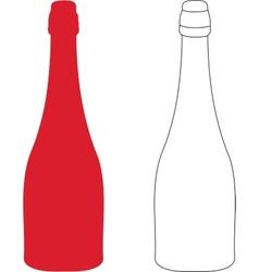 Bottle contour vector image vector image