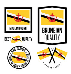 Brunei quality label set for goods vector