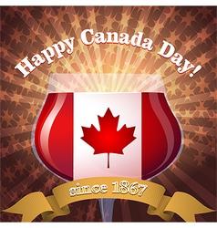 Canada Day goblet vs vector image