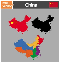 China maps vector