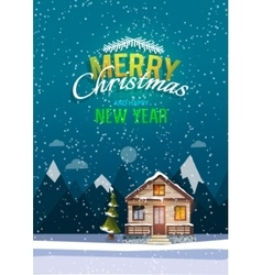 Christmas and New Year greeting card Sweet family vector image