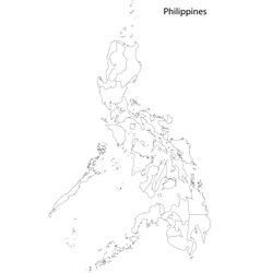Contour philippines map vector