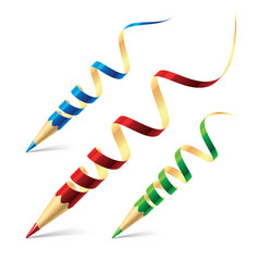 creative pencils vector image vector image