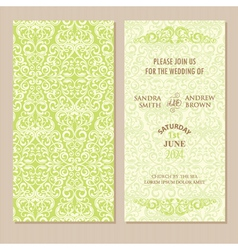 Double invitation card vector