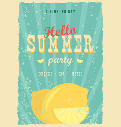 Hello summer poster summer background effects vector