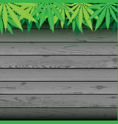 Hemp and gray plank wooden background vector
