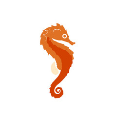 Isolated abstract seahorse vector